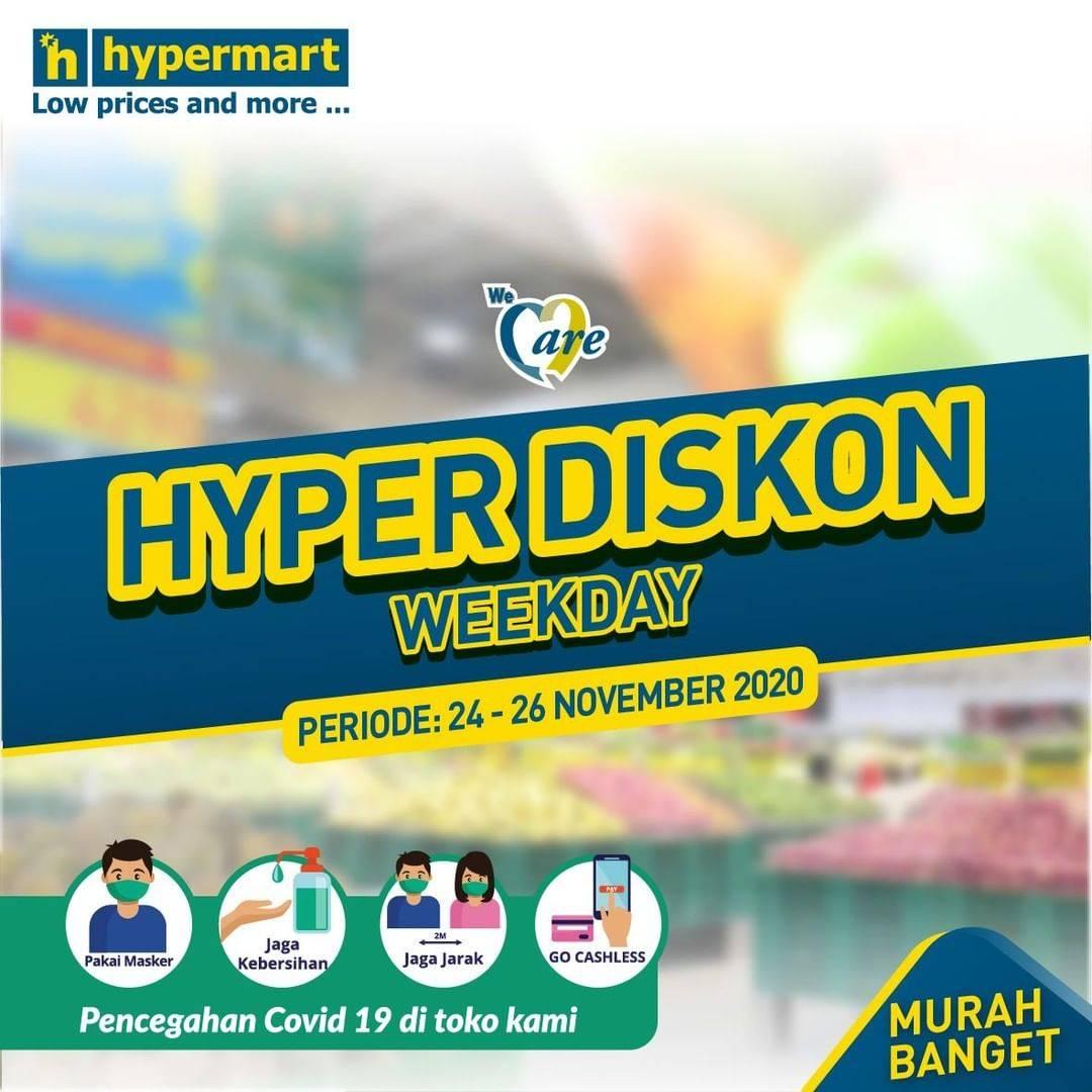 Diskon Katalog Promo Hypermart Diskon Weekday Periode 24 - 26 November 2020