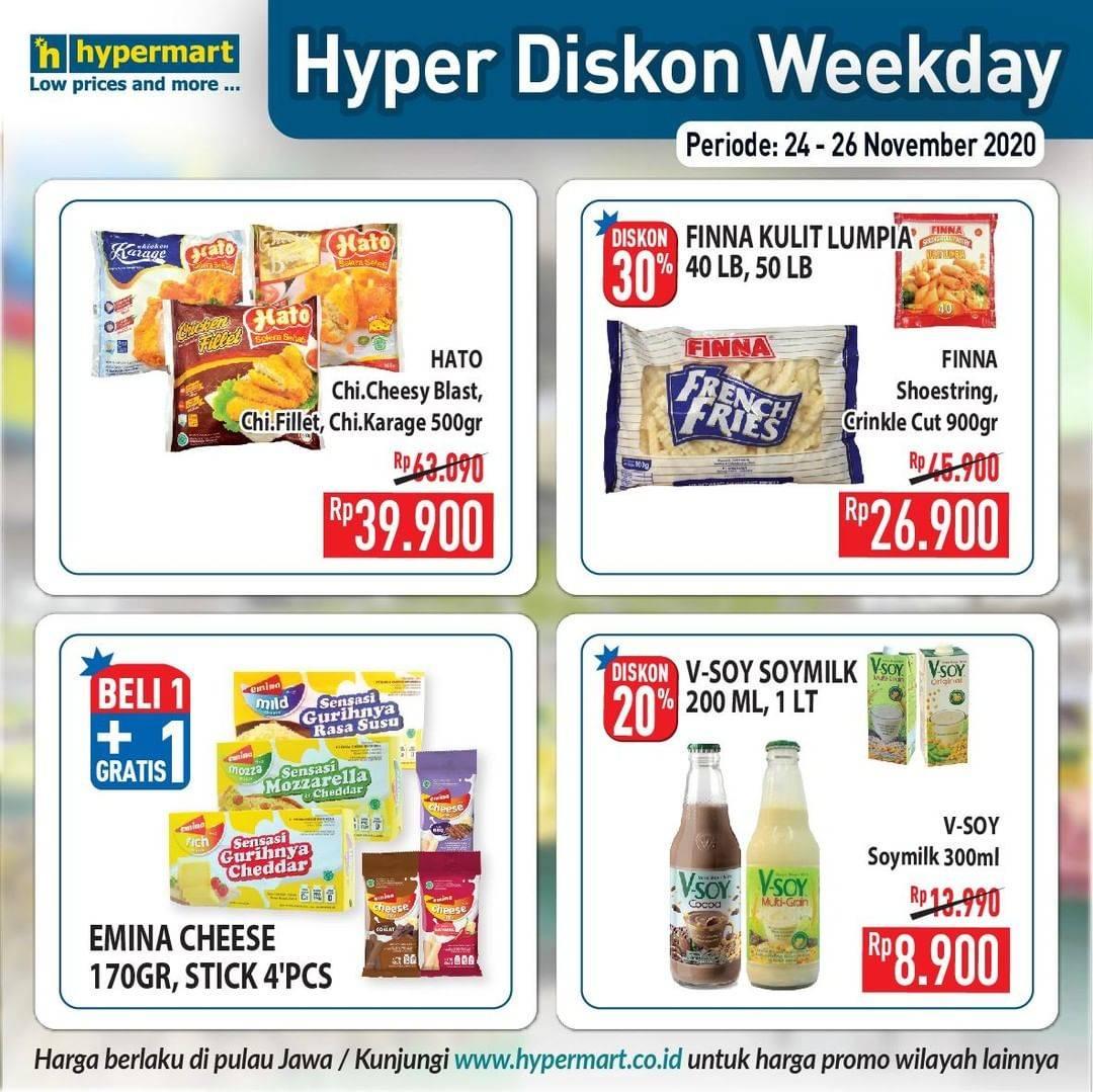 Promo diskon Katalog Promo Hypermart Diskon Weekday Periode 24 - 26 November 2020