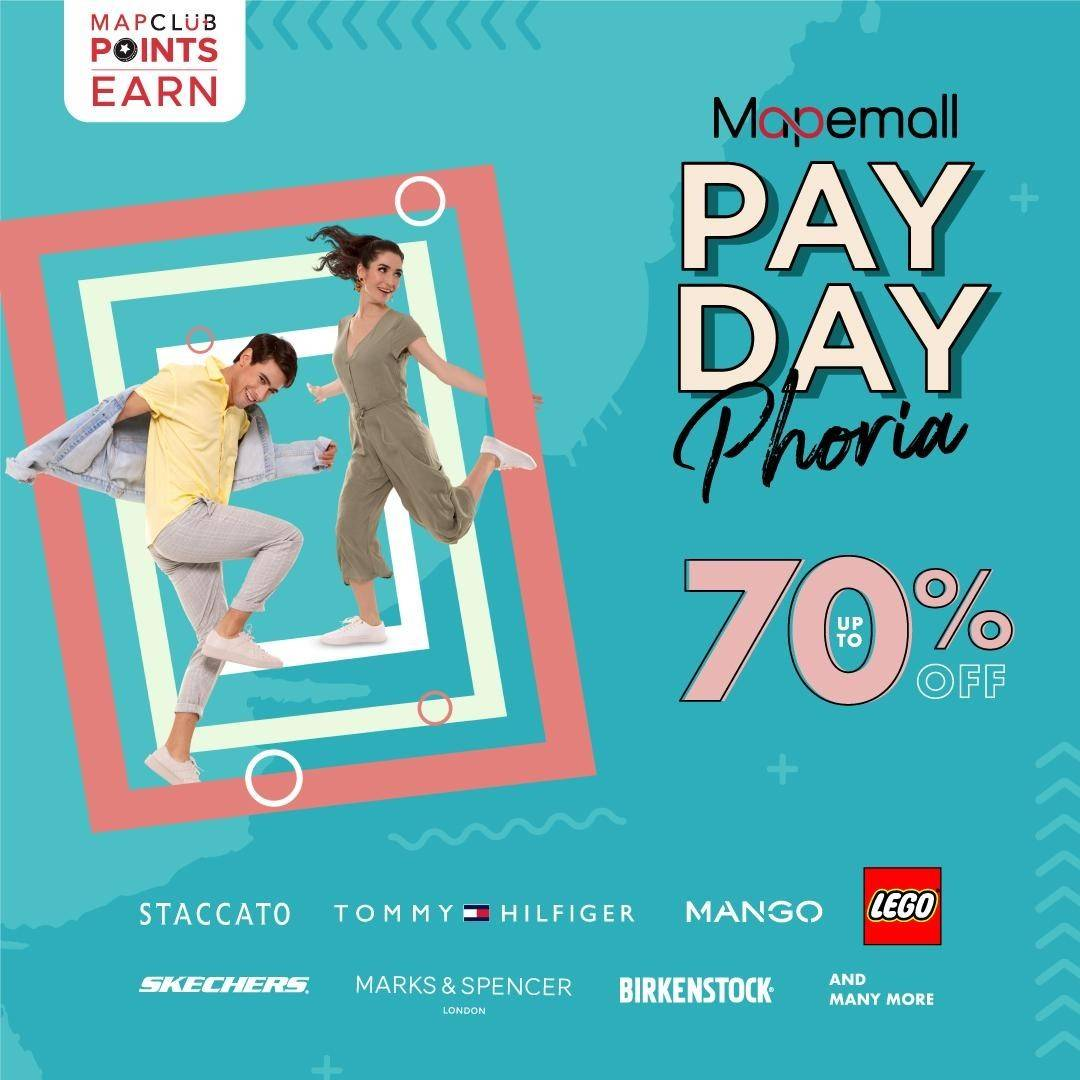 Diskon Mapemall Promo Paydayphoria Up to 70% Off