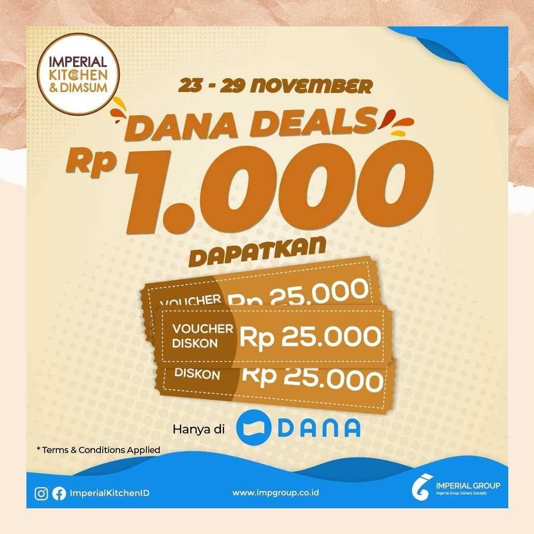 Diskon Imperial Kitchen Promo Dana Deals Rp. 1.000 Dapatkan Voucher Rp. 25.000