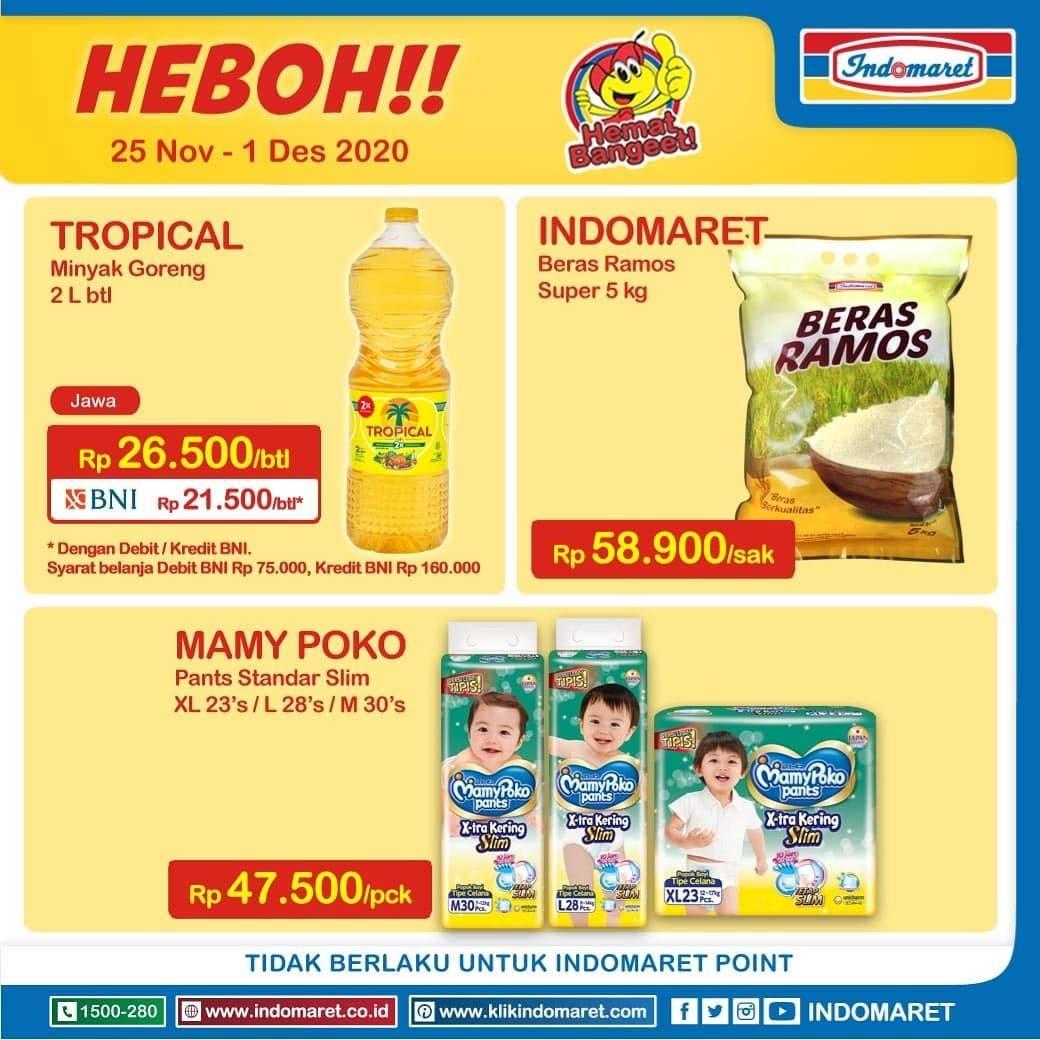 Diskon Katalog Promo Indomaret Promo Heboh Periode 25 November - 1 Desember 2020