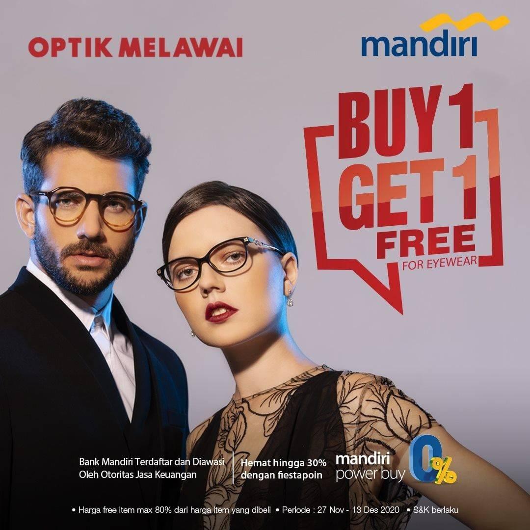 Diskon Optik Melawai Buy 1 Get 1 Free For Eyewear Dengan Kartu Kredit/Debit Mandiri
