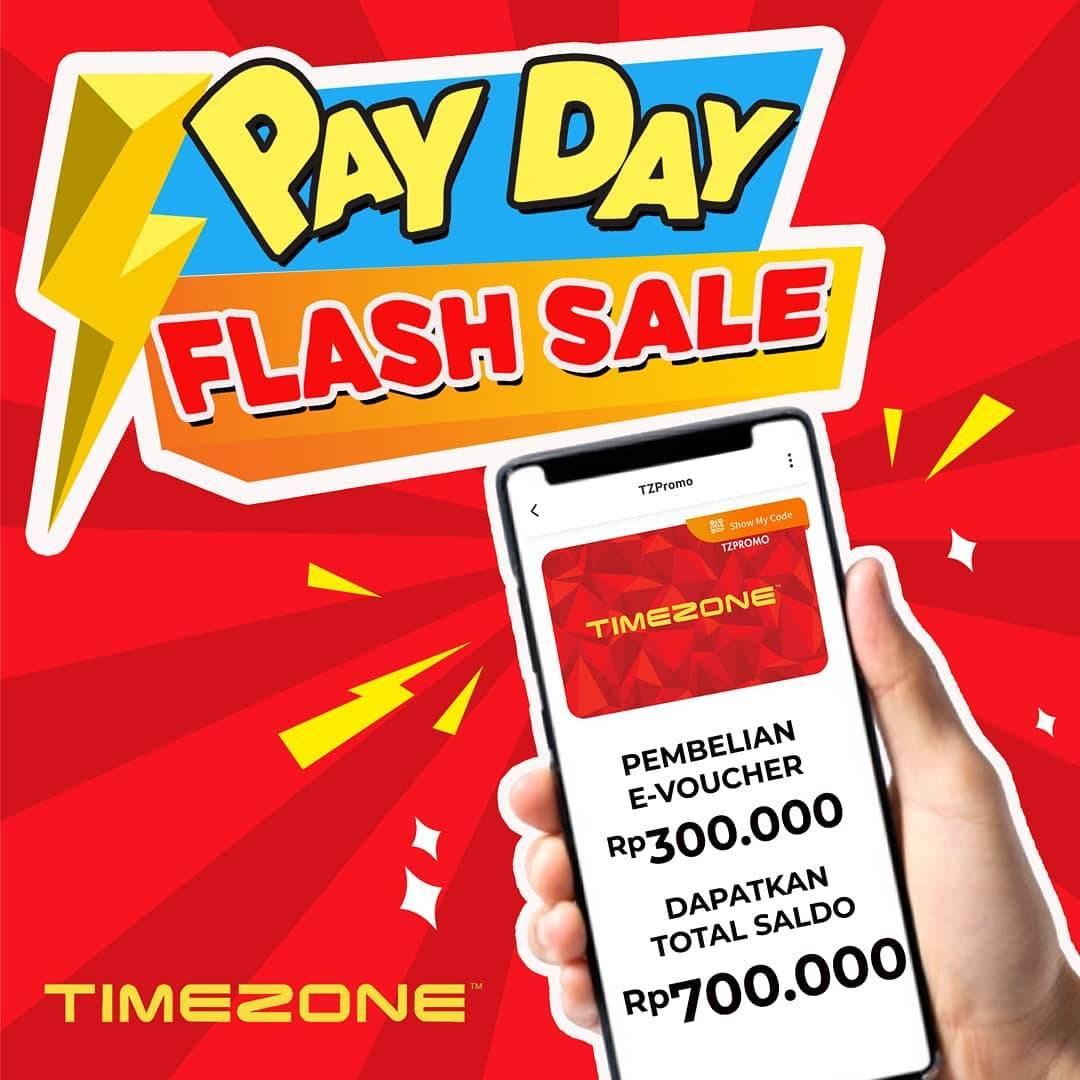 Diskon Timezone Payday Flash Sale - Beli E-Voucher Rp. 300.000 Dapat Saldo 700.000