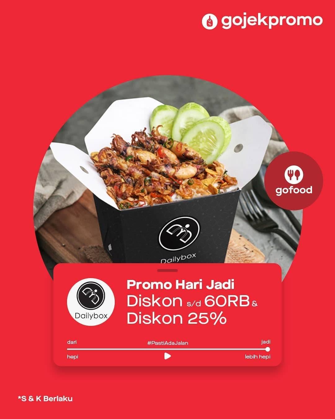 Promo diskon GoFood Promo Diskon 25% & Potongan Langsung Hingga Rp. 60.000