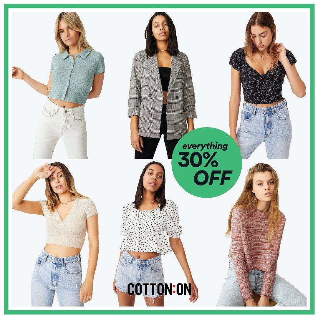 Promo diskon Cotton On Discount 30% Off On All Items