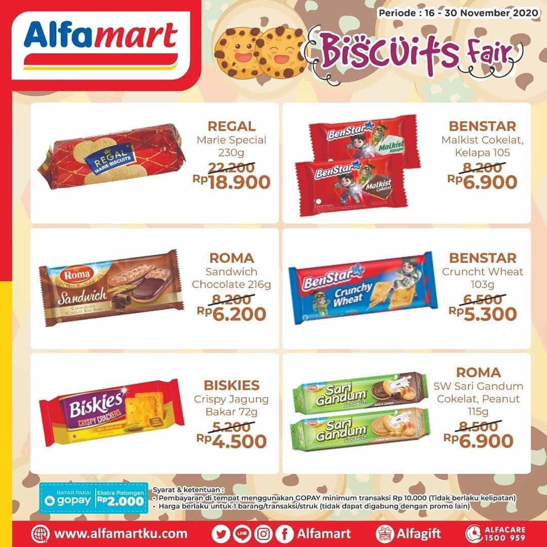 Promo diskon Katalog Promo Alfamart Biscuits Fair Periode 16 - 30 November 2020