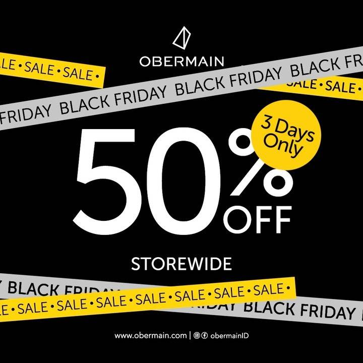 Diskon Oberamain Promo Black Friday - Discount 50% Off