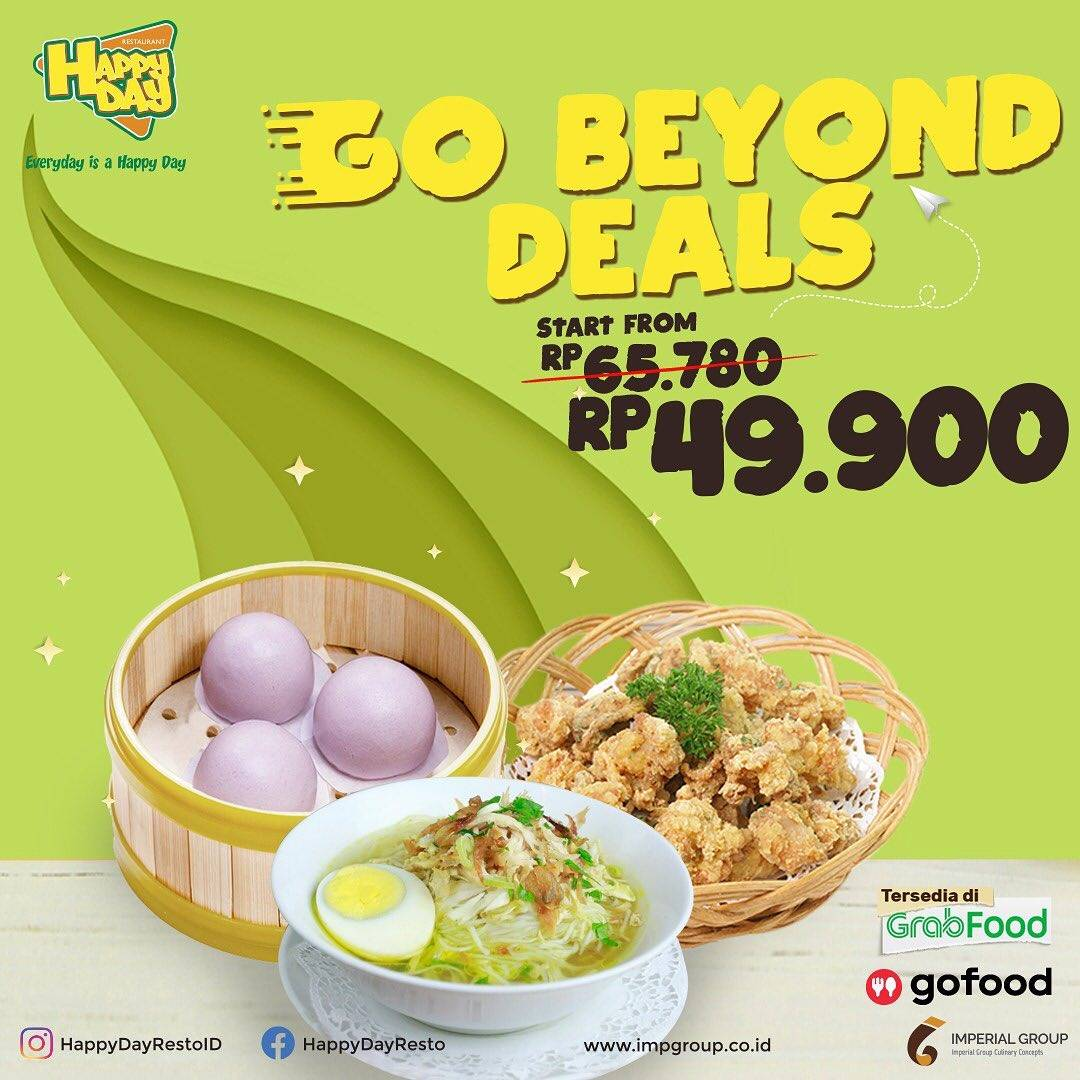 Promo diskon Happy Day Promo Go Beyond Deals Start From 49.900