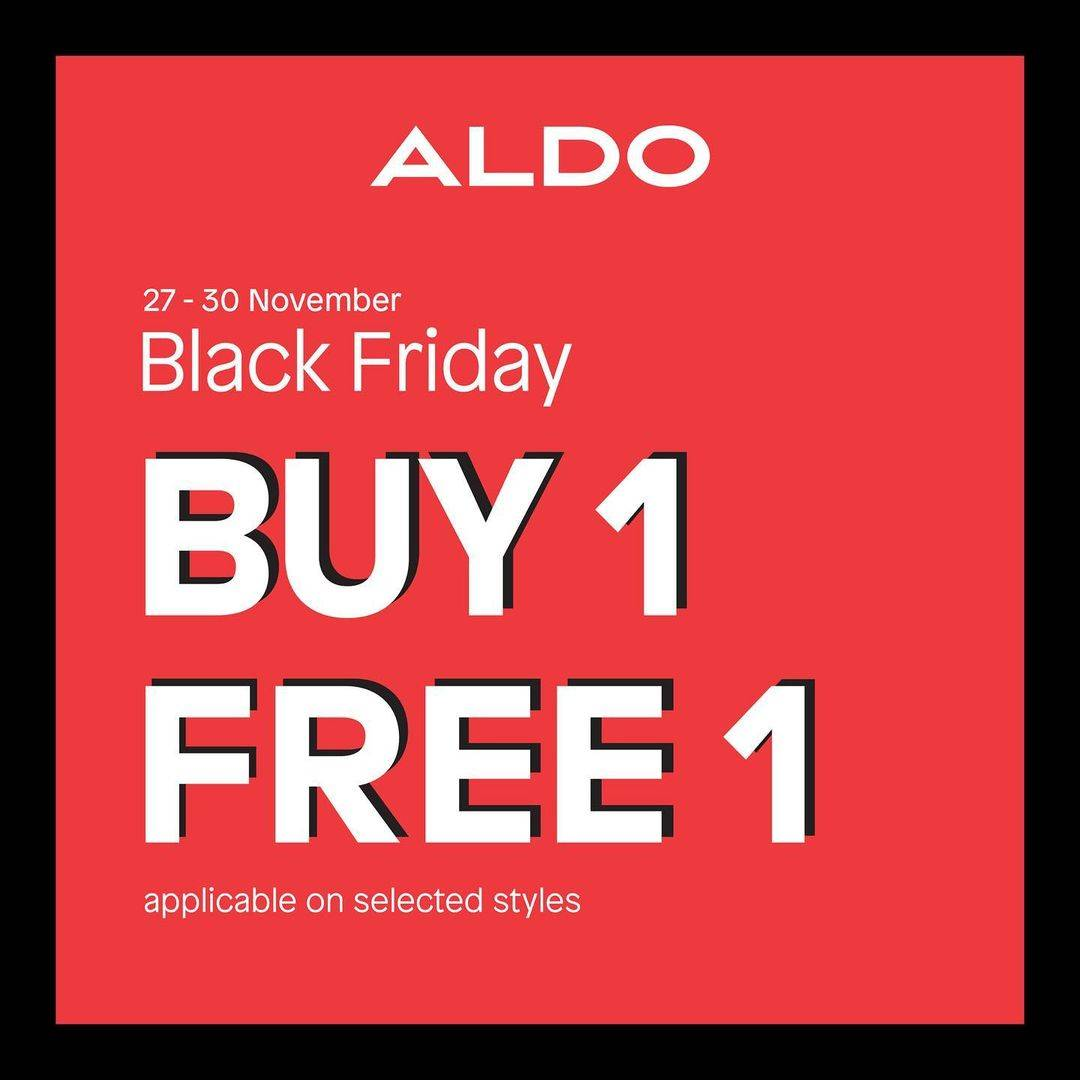 Diskon Aldo Kota Kasablanka Promo Black Friday - Buy 1 Get 1 Free