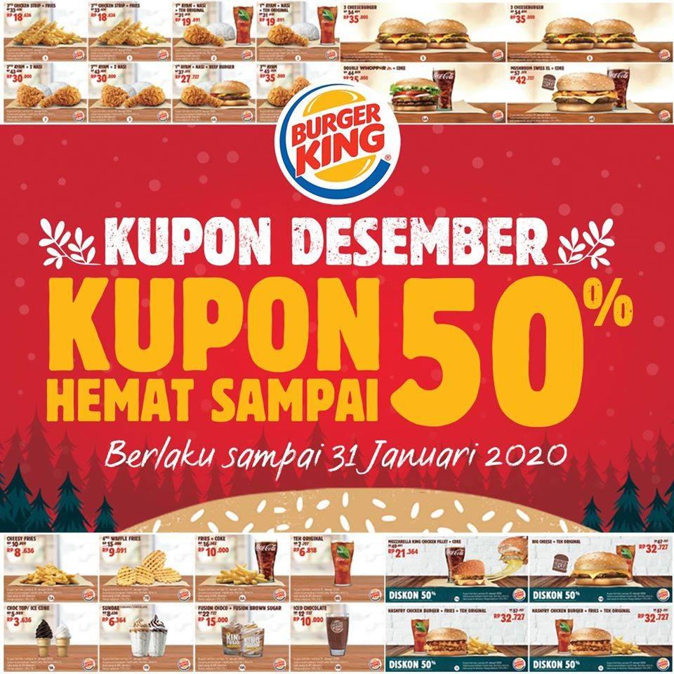Burger King Promo Kupon Desember 2019 Diskon Hingga 50%