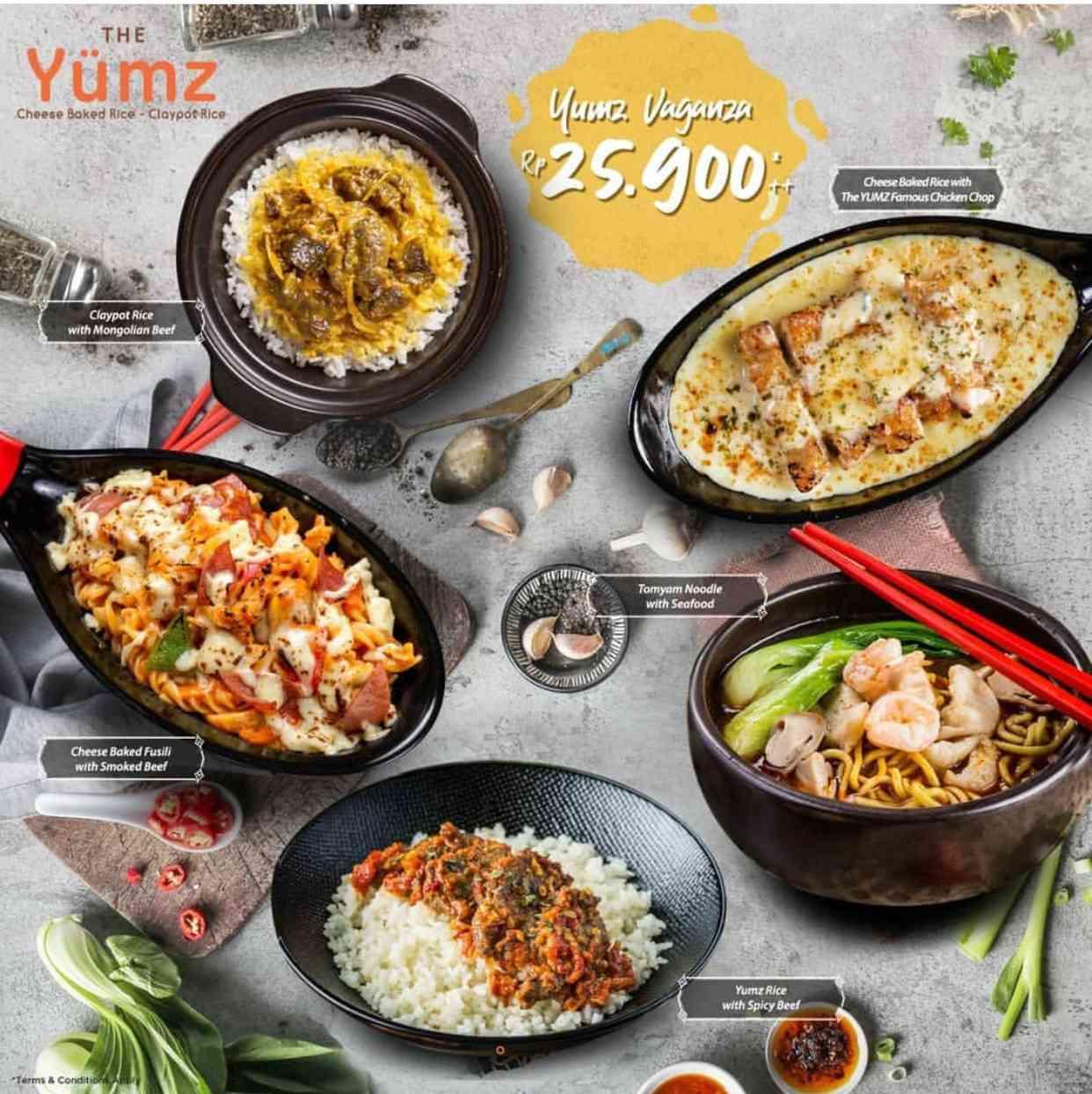 The Yumz Promo Yumz Vaganza Harga Spesial Menu Pilihan hanya Rp. 25.900++
