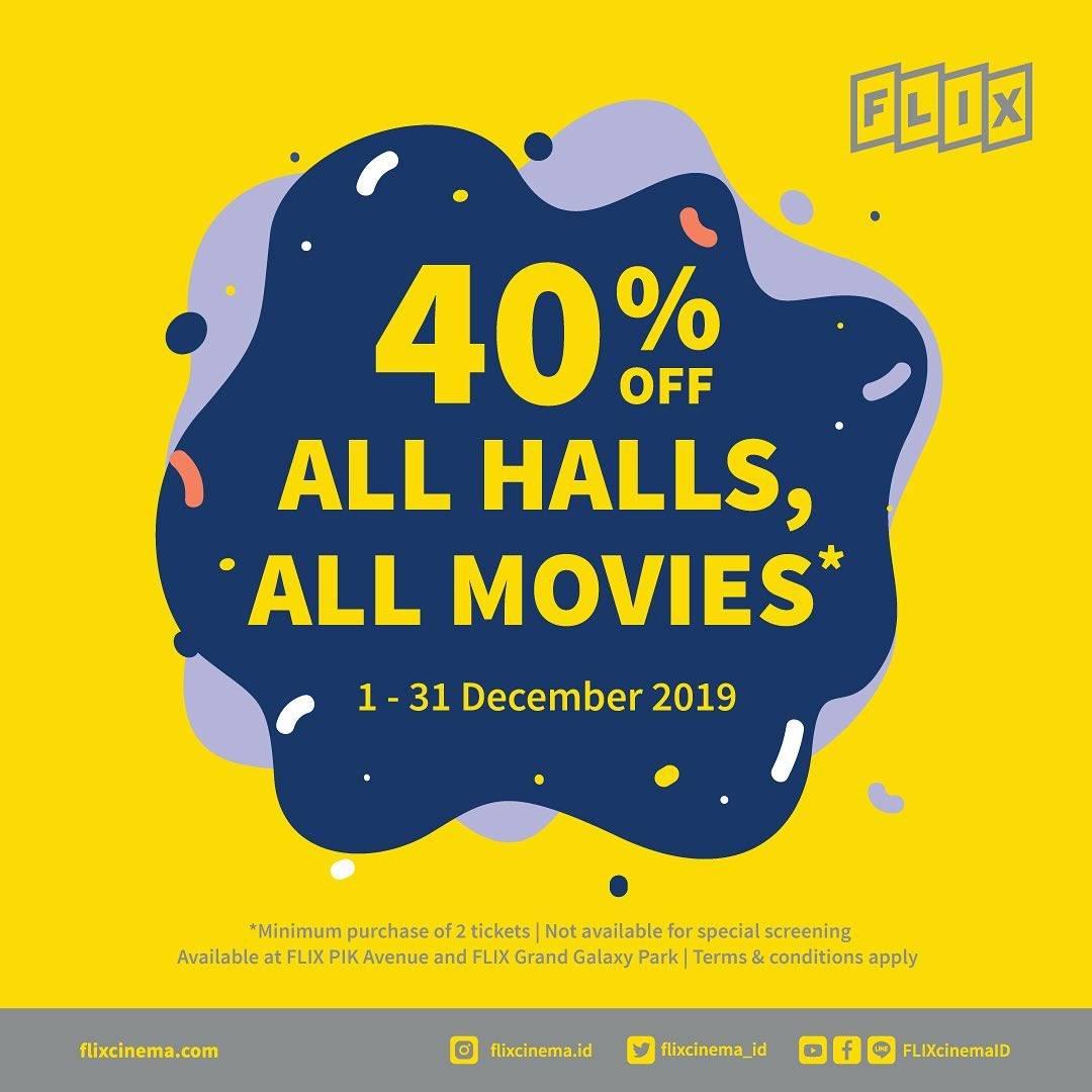 Flix Cinema Promo Diskon 40%