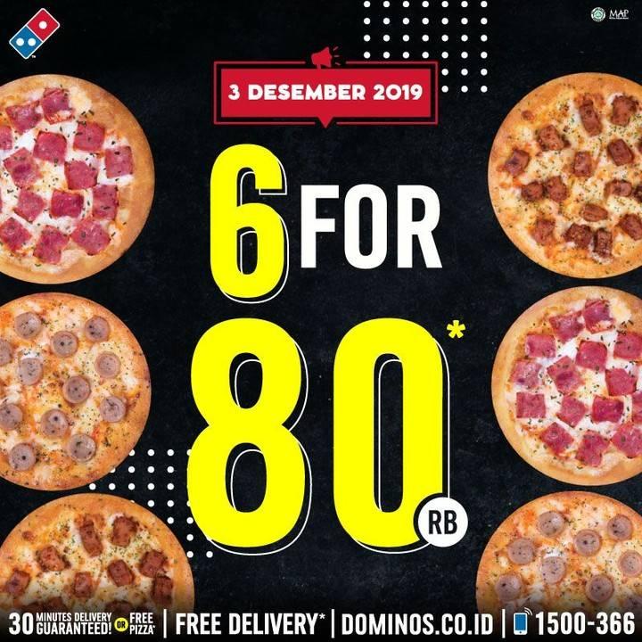 Dominos's Pizza Promo 6 For 80 Ribu 6 Pizza Mania Hanya Rp 80 Ribu