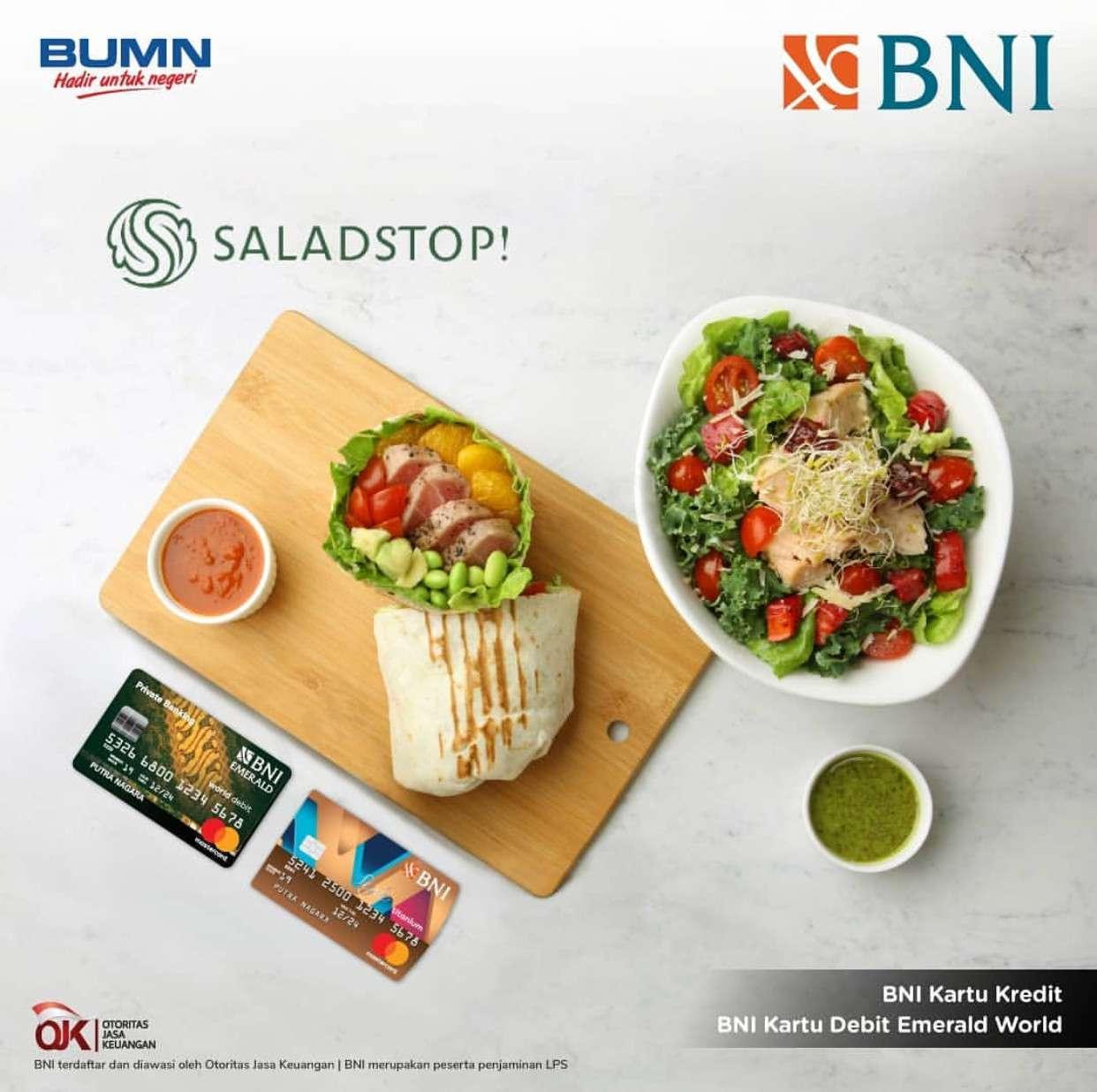SaladStop! Promo Gratis Complimentary Smoothies + Premium Topping dengan Kartu Kredit BNI dan Debit