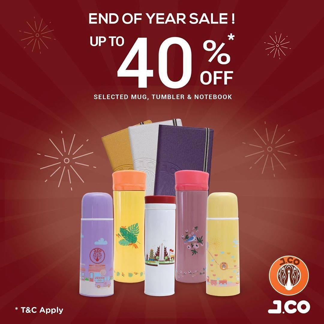 JCO End of Year Sale! Diskon 40% untuk Mug atau Tumbler atau Notebook Pilihan