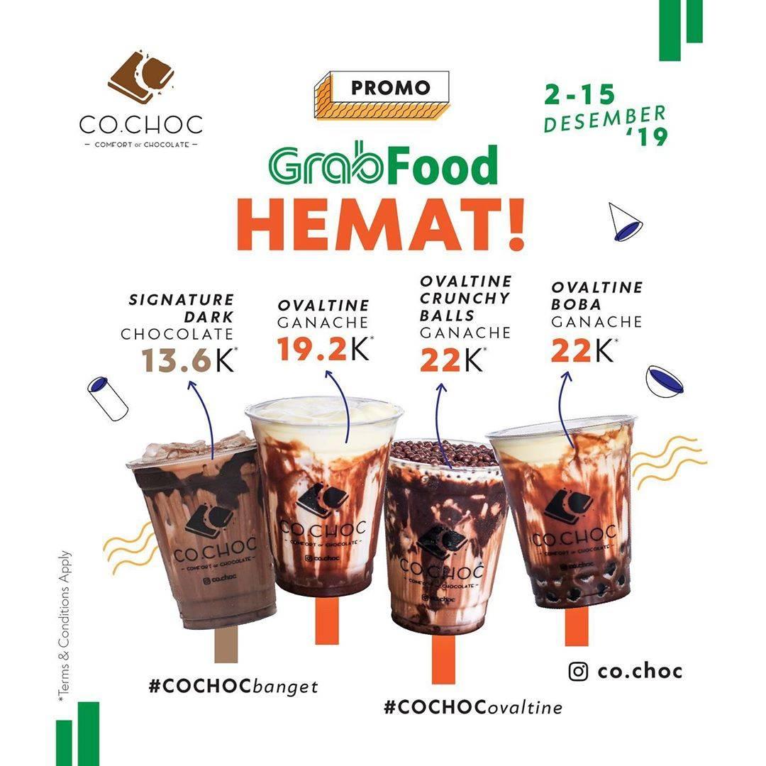 CoChoc Promo GrabFood Hemat Ovaltine Ganache Series Co.choc x Awkarin