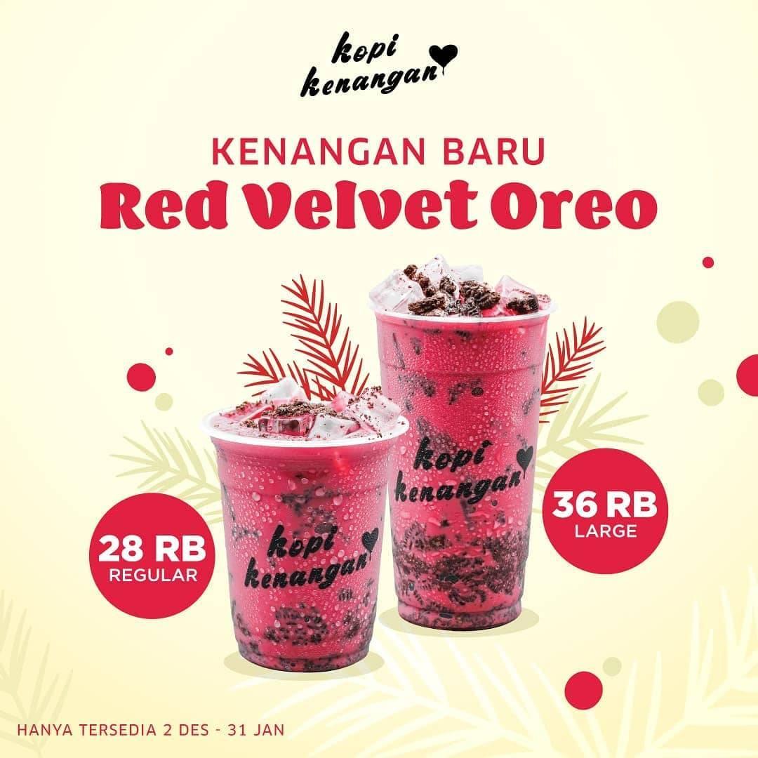 Kopi Kenangan Red Velvet Oreo Promo Minuman Baru