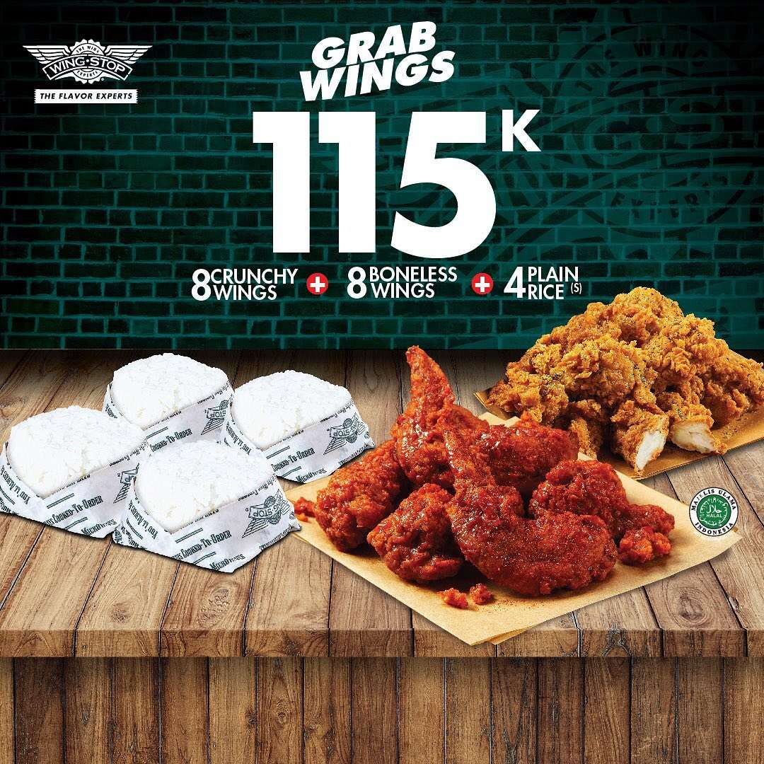 Wingstop Paket GrabWings Harga Spesial via GrabFood