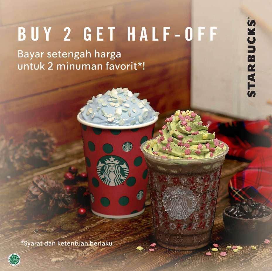Starbucks Promo Diskon 50% untuk Pembelian 2 Minuman Apapun dengan Kupon LINE