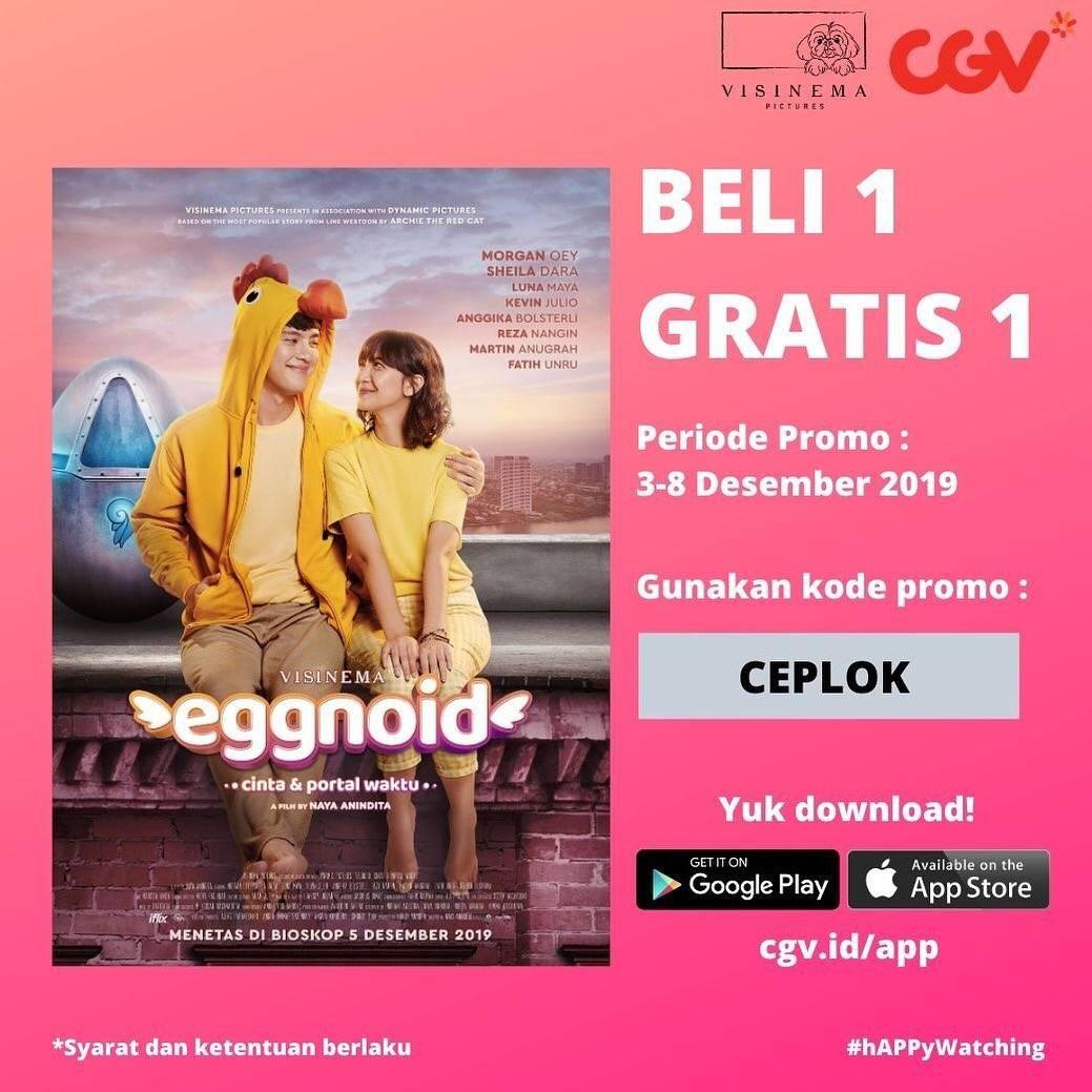 CGV Promo Film Eggnoid Buy 1 Get 1 dengan aplikasi CGV