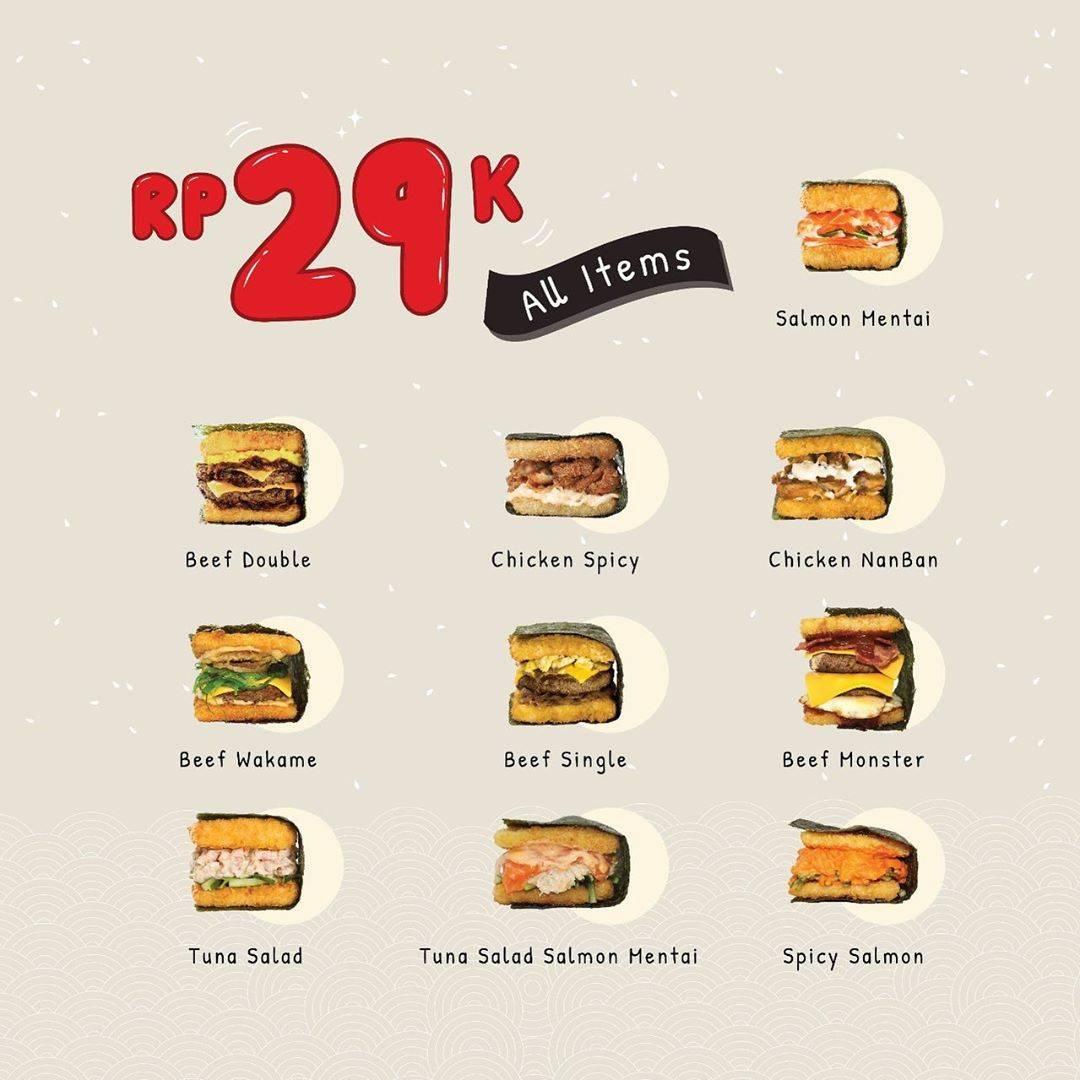 Promo Burgushi Akhir Tahun Rp. 29K all items