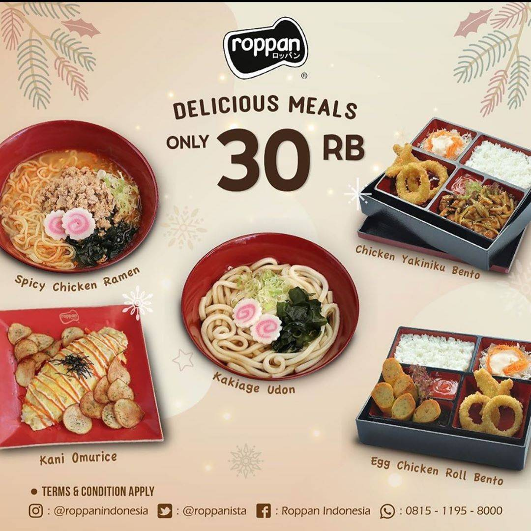 Roppan Promo Delicious Meals Only Rp 30.000