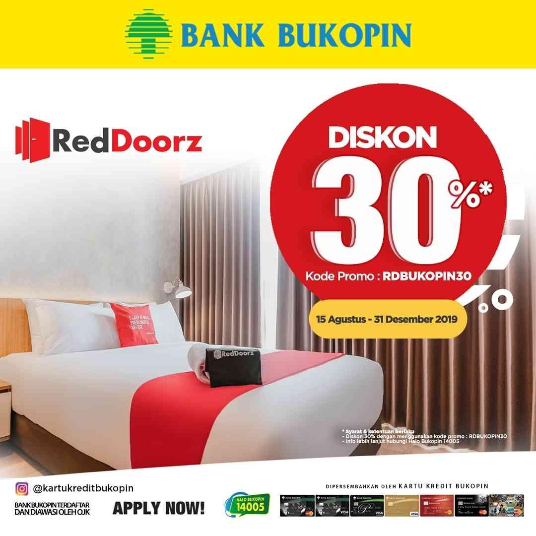 Diskon RedDoorz Diskon 30% Dengan Kartu Kredit Bukopin