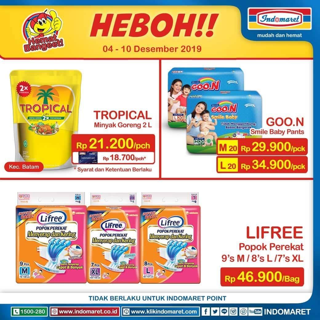 Diskon Indomaret Promo Harga Heboh, Minyak Murah Dan Susu Murah Periode 4-10 Desember 2019.
