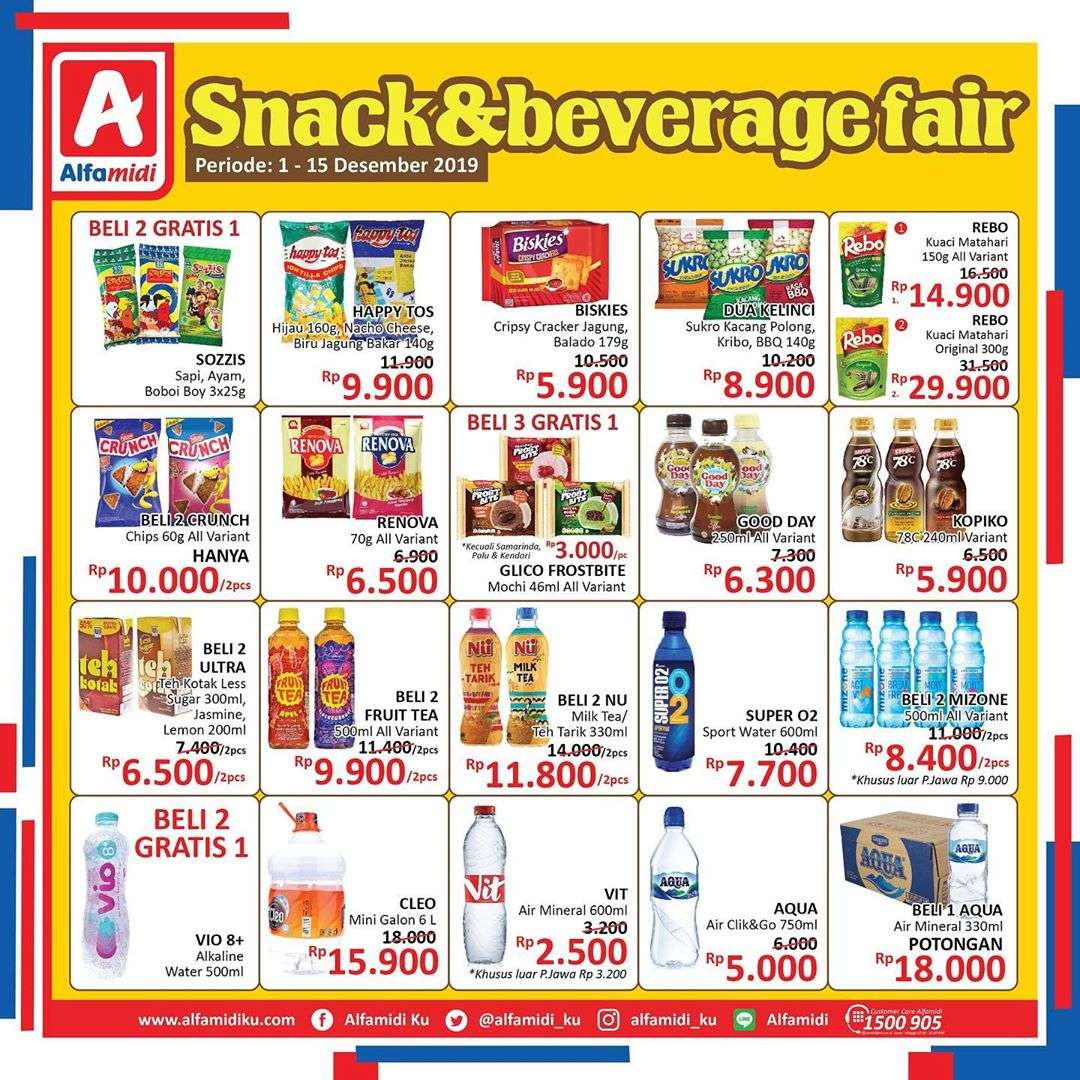Alfamidi Katalog Promo Snack And Beverage Fair Periode 1-15 Desember 2019