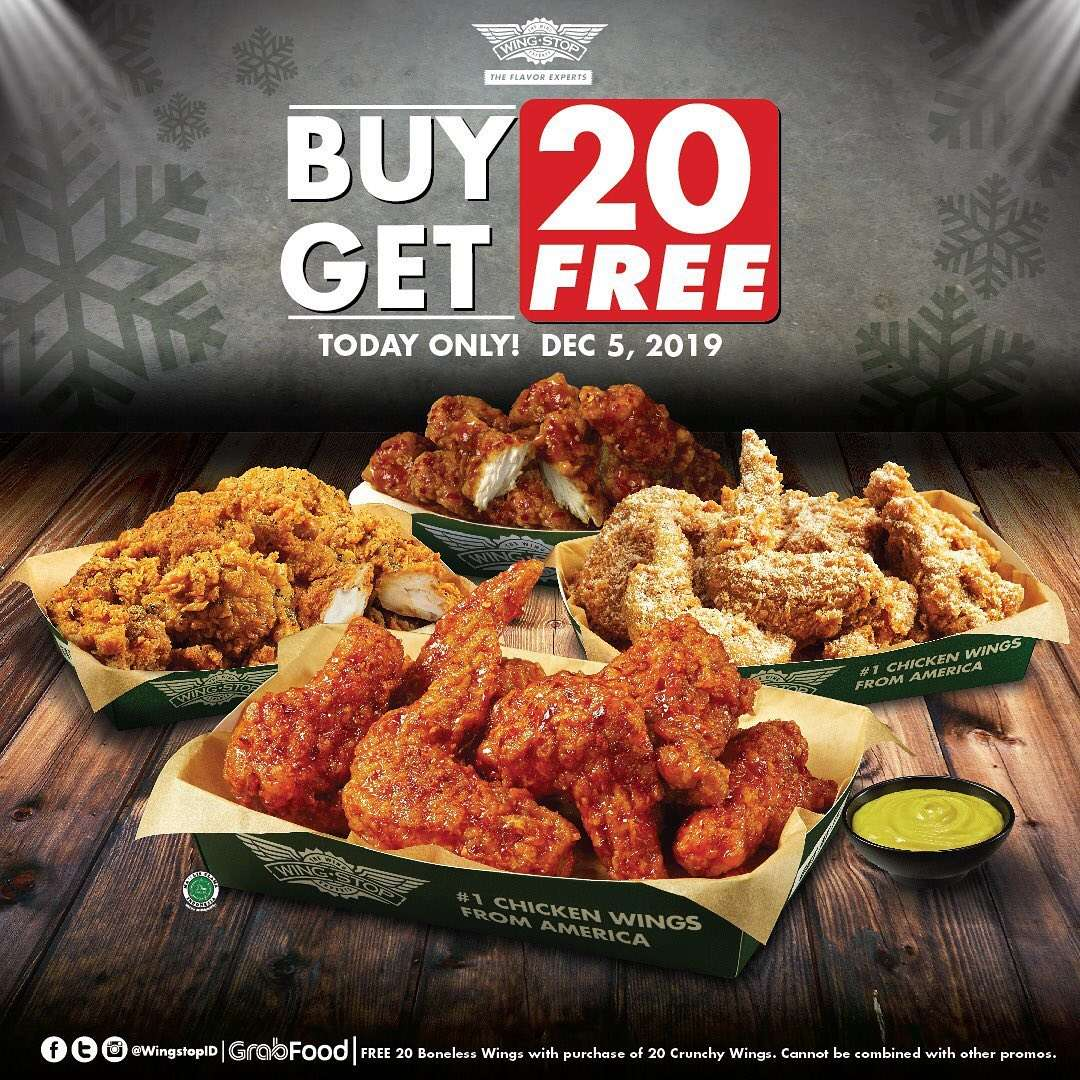 Wingstop Promo Only One Day Best Deal, Buy 20 Get 20 Free!