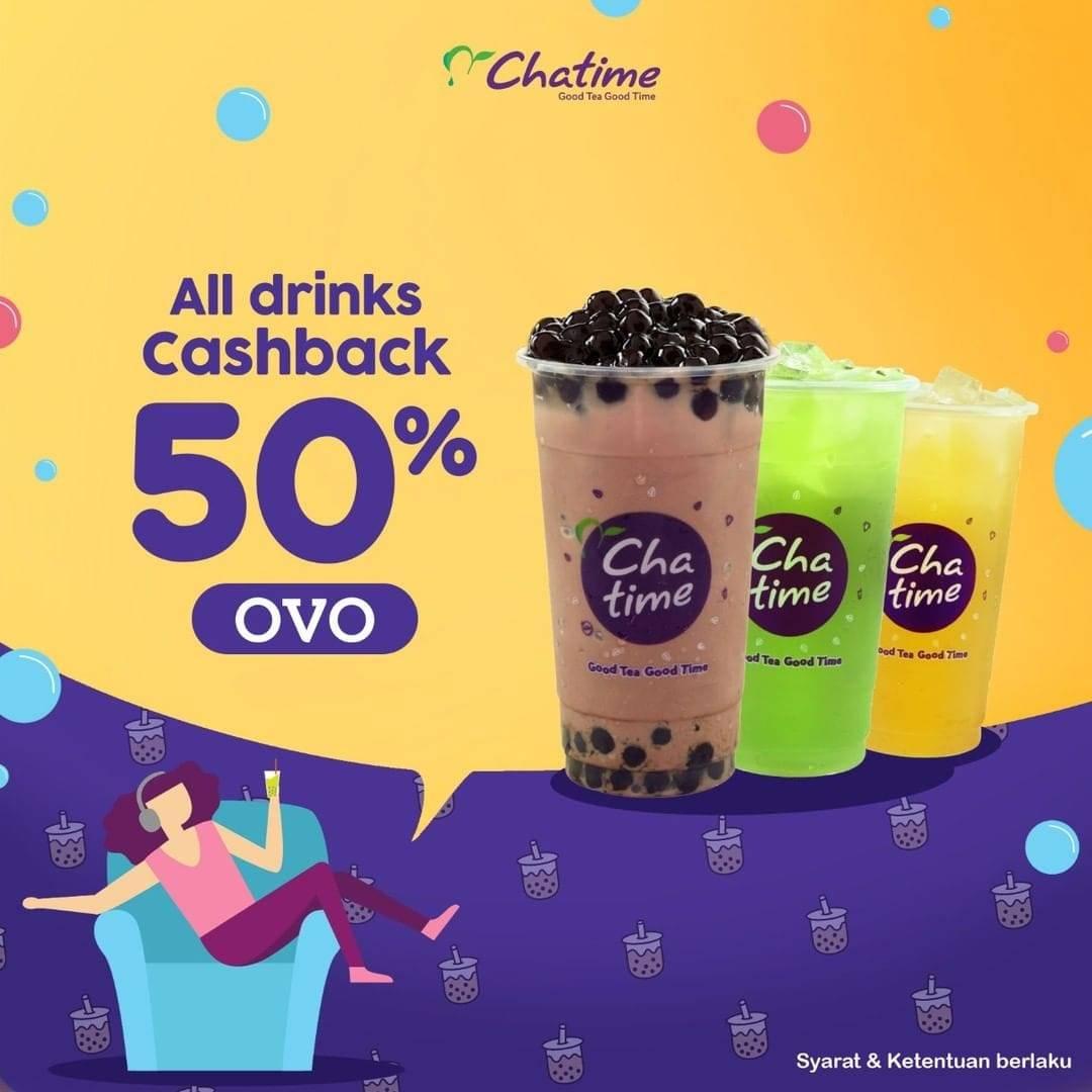 Chatime Promo Cashback 50% For All Drinks Dengan Pembayaran Melalui OVO