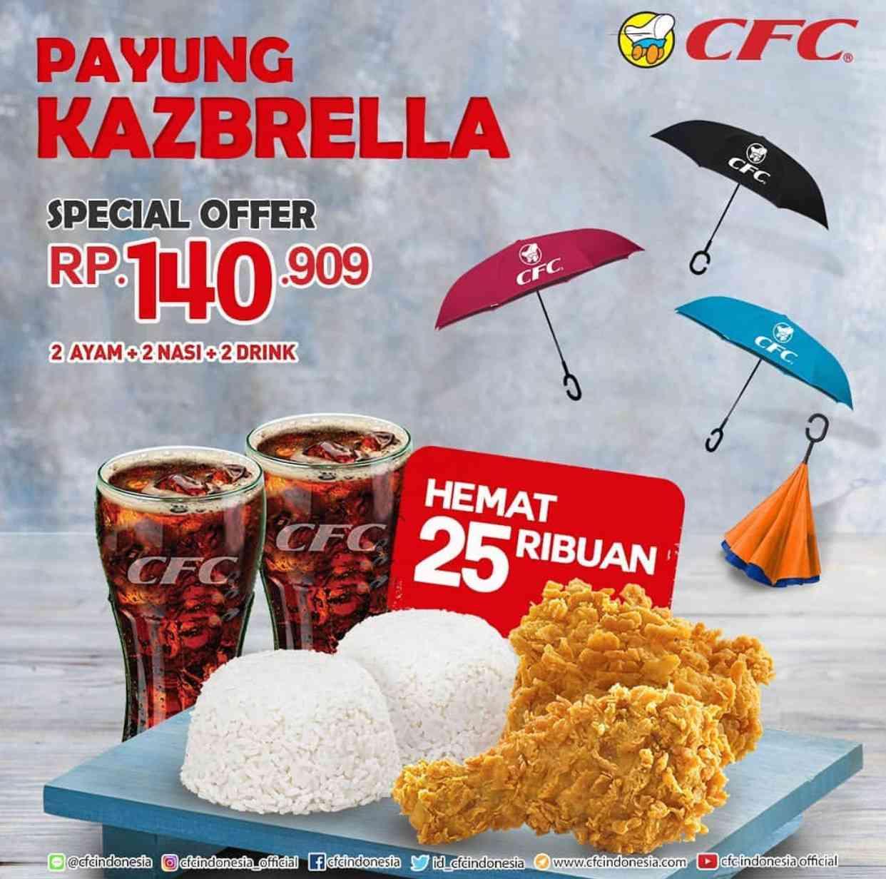 CFC Promo Paket Makan Berdua Gratis Payung Kazbrella