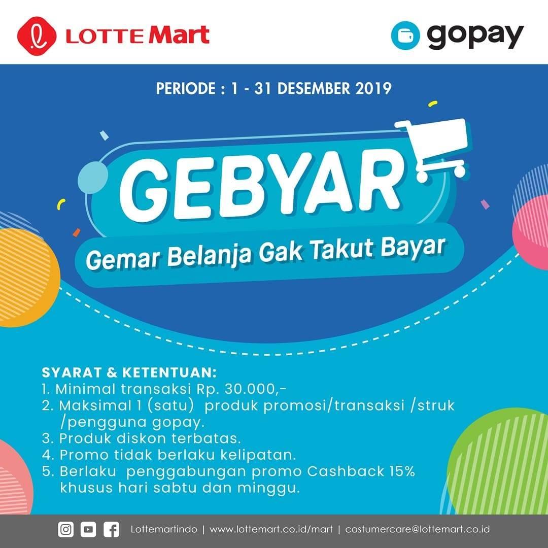 Promo Gebyar Gopay, Harga Spesial Produk Pilihan khusus Transaksi Dengan Gopay
