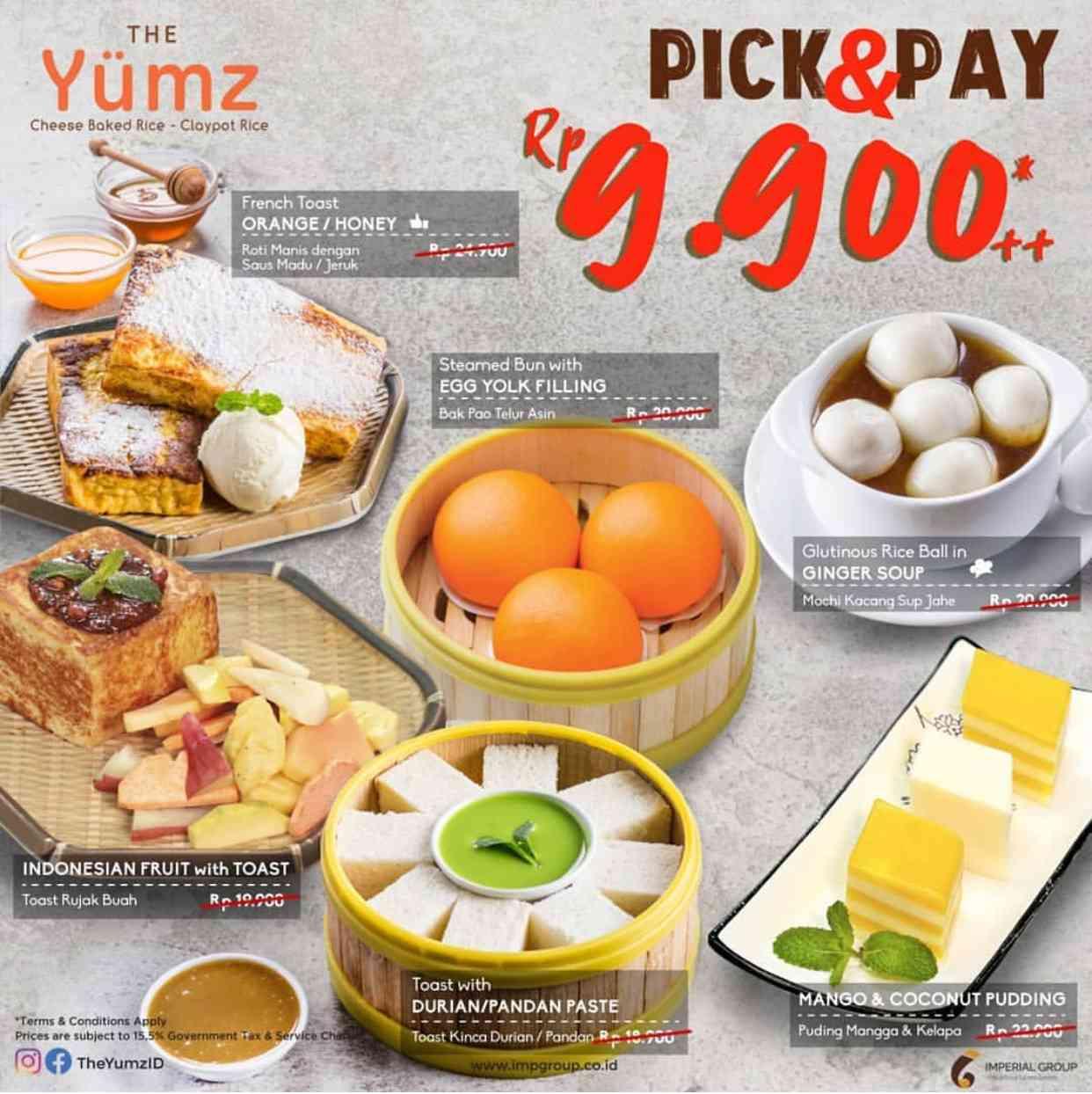 The Yumz Promo Pick And Pay, Harga Spesial Menu Pilihan Hanya Rp 9.900++