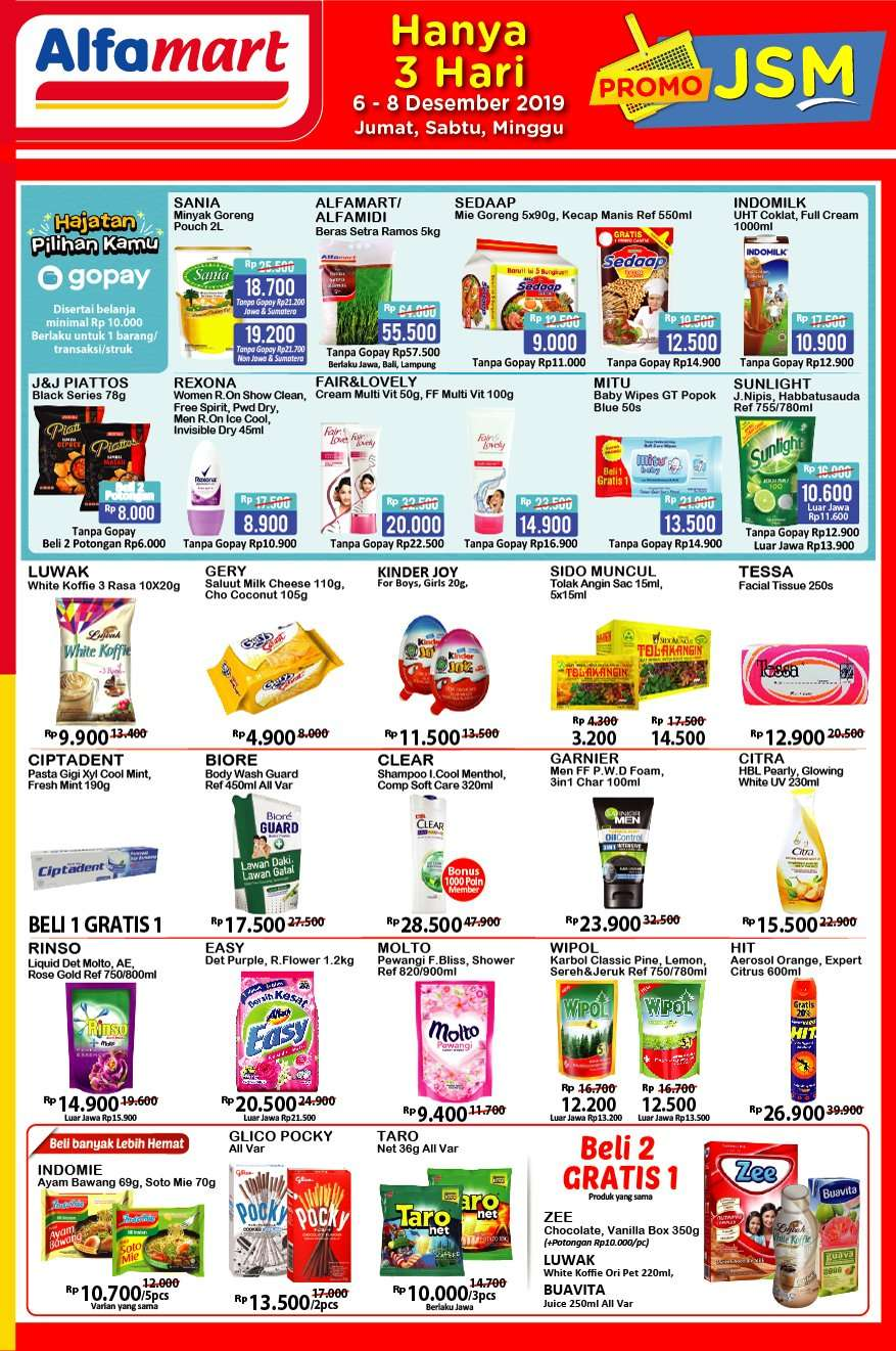 Katalog Promo JSM Alfamart Periode 6-8 Desember 2019