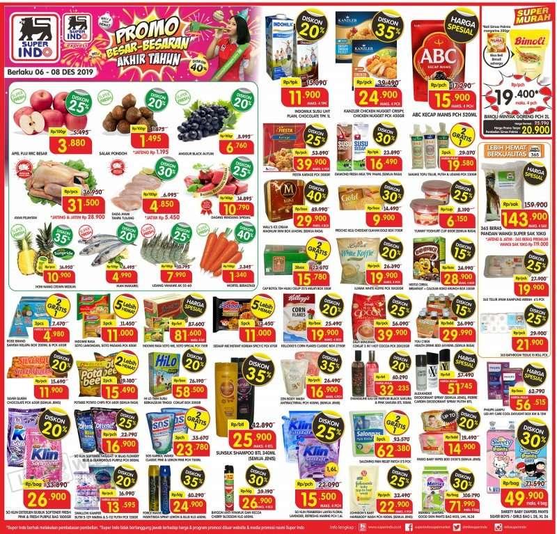 Superindo Supermarket Katalog Promo JSM Periode 6-8 Desember 2019