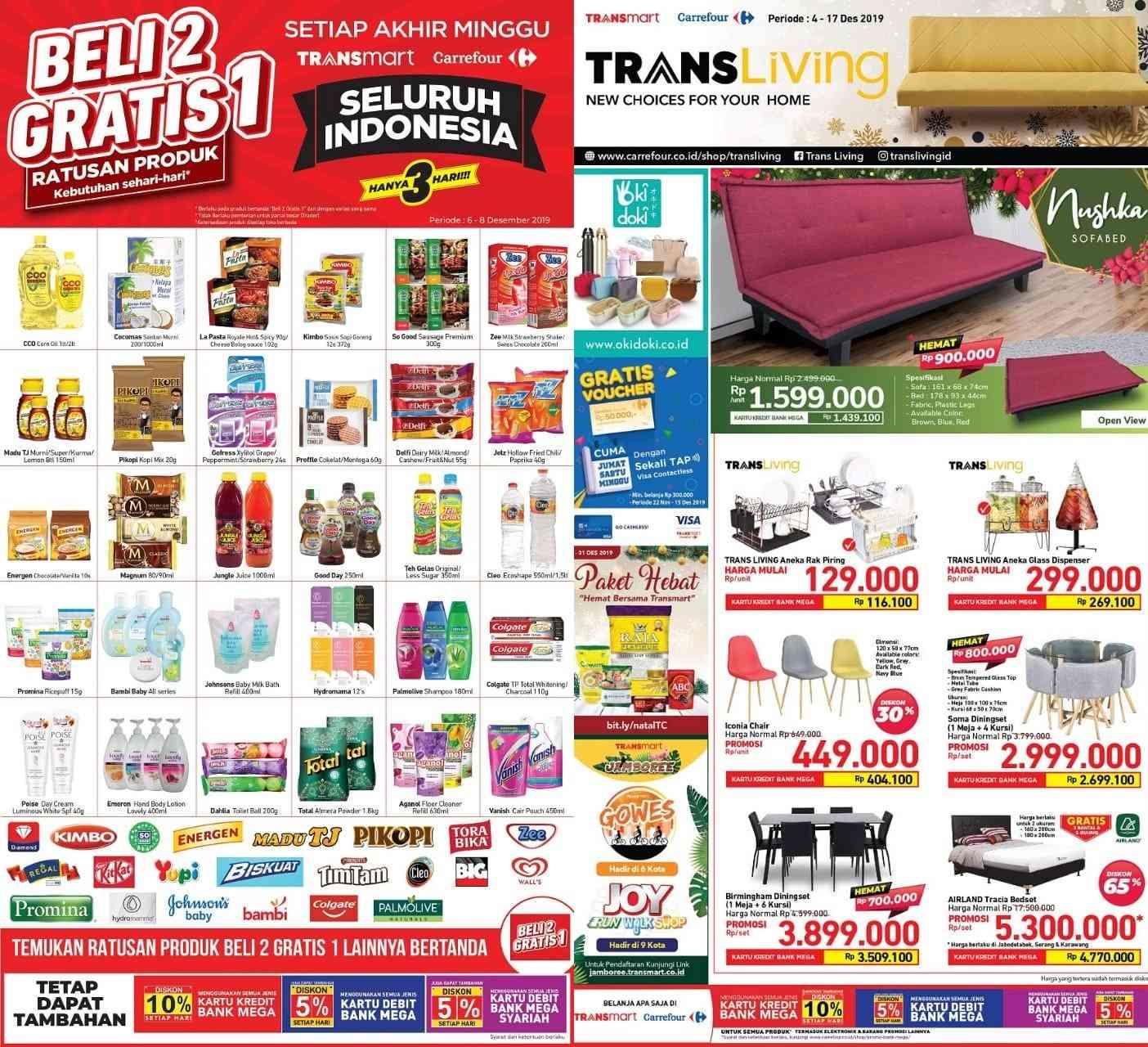 Transmart Carrefour Katalog Promo JSM Periode 6-8 Desember 2019