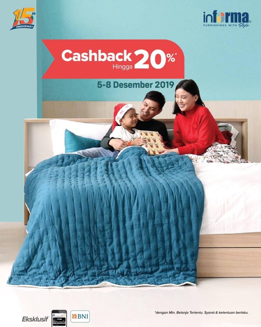 Informa Promo Cashback 20% Untuk Produk Furnitur