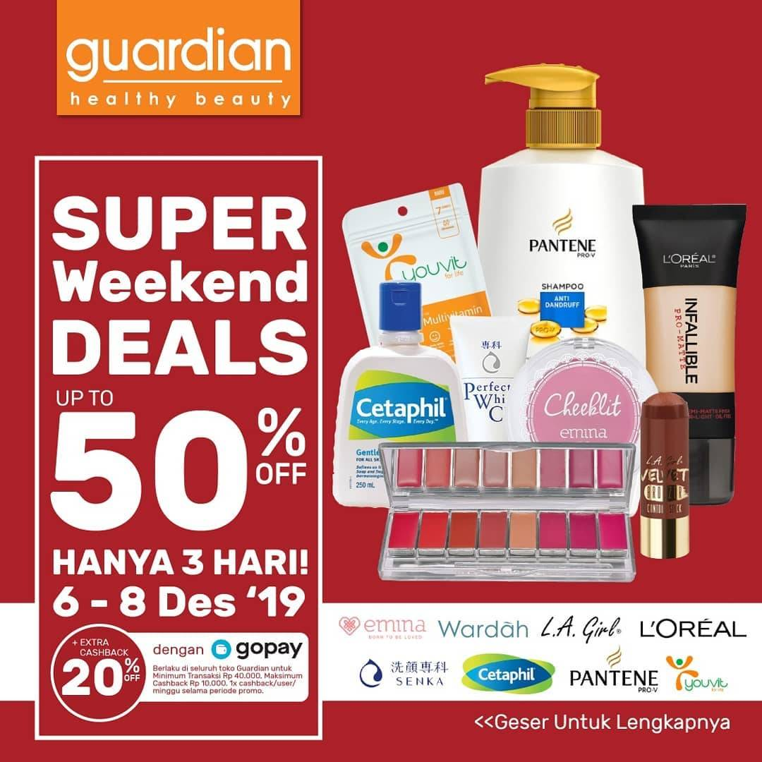 Guardian Super Weekend Deals Up To 50% Off Periode 6-8 Desember 2019