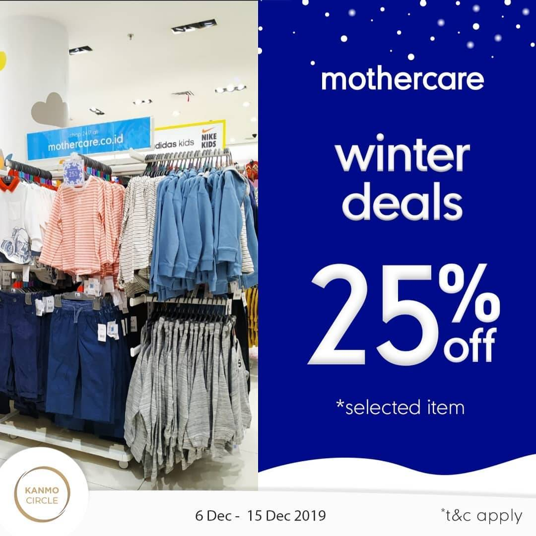 Mothercare Winter Deals, Diskon 25% Selected Items