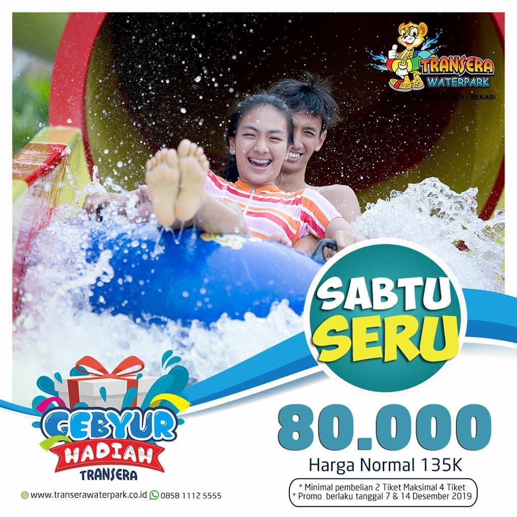 Transera Waterpark Bekasi Promo Sabtu Seru, Harga Spesial Tiket Masuk Hanya Rp. 80.000