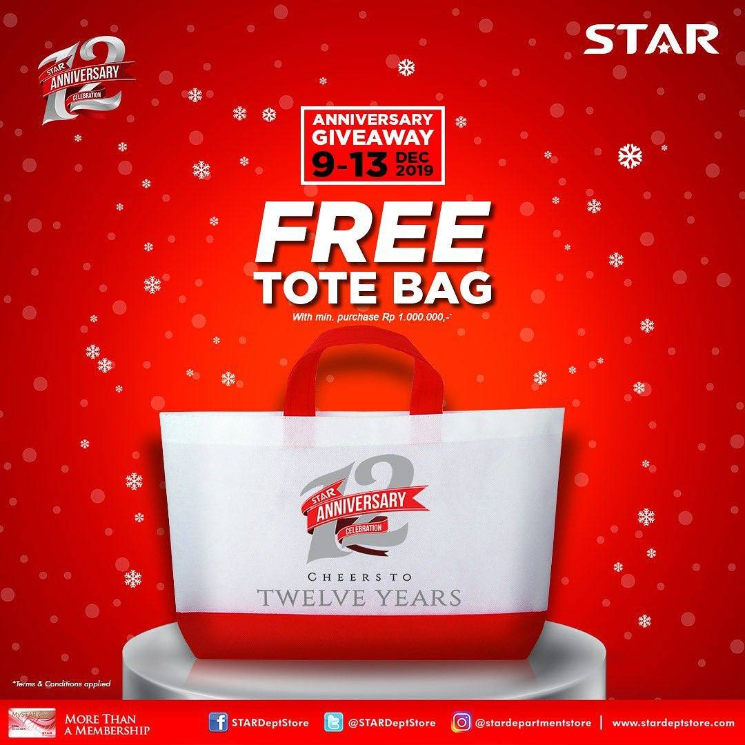 Diskon Star Department Store Annivesary Giveaway, Gratis Tote Bag