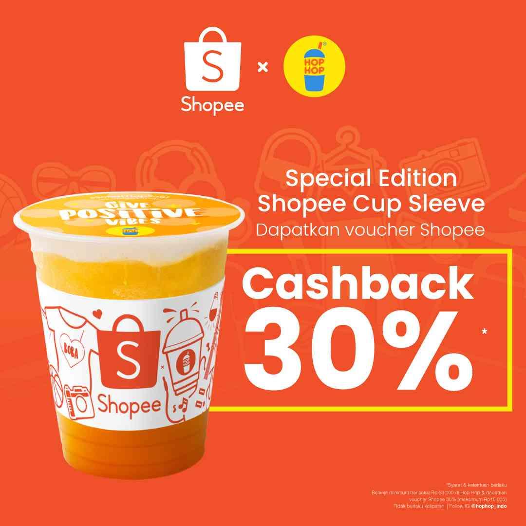 Hop Hop Promo Gratis Voucher Cashback Shopee Senilai 30%
