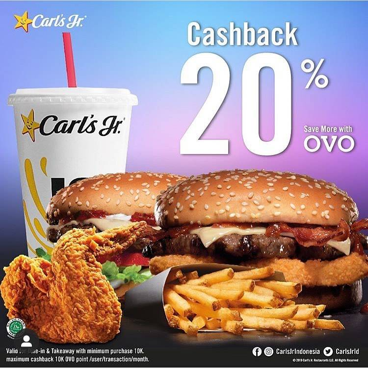 Carls Jr Promo Cashback 20% Dengan OVO