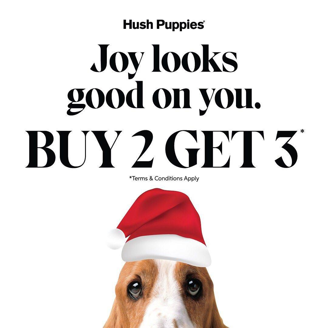 Hush Puppies Promo Buy 2 Get 3