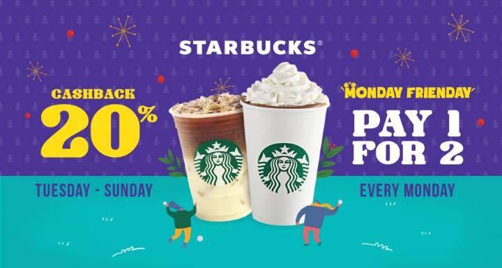 Starbucks Promo Pay 1 For 2 Dengan OVO
