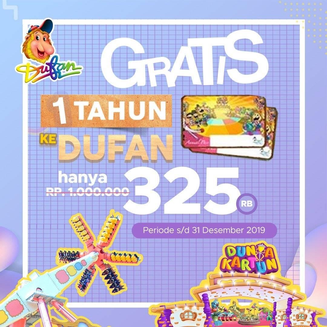 Dufan Promo Annual Pass Desember, Harga Cuma Rp. 325.000 Doang!