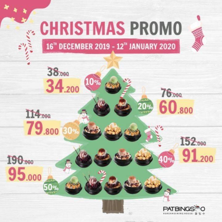 Patbingsoo Christmas Promo, Diskon Hingga 50%