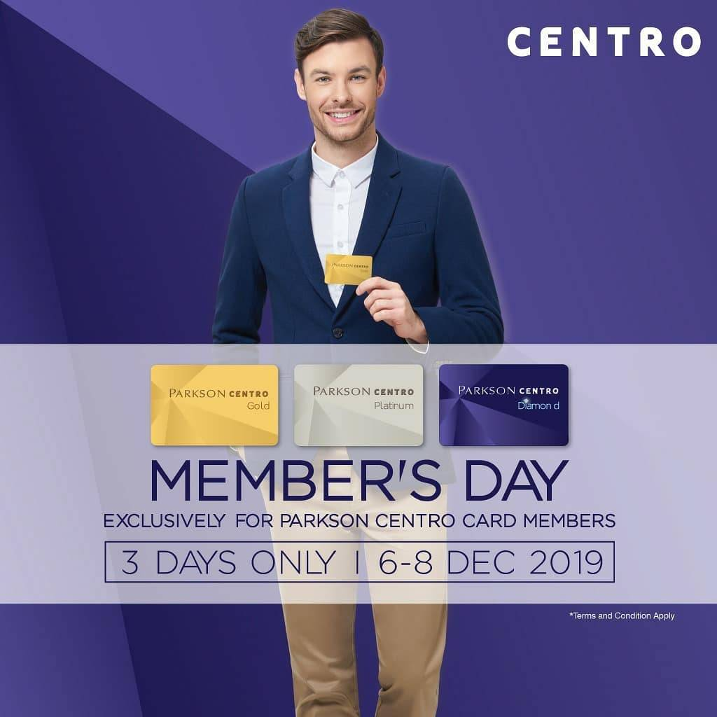 Centro Dan Parkson Department Store Member's Day Periode 6-8 Desember 2019