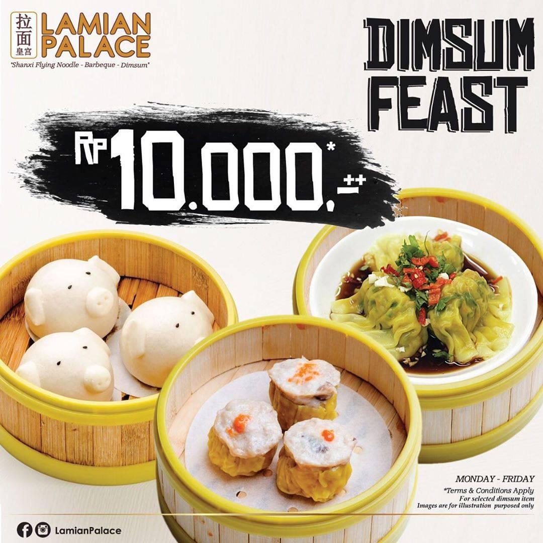 Lamian Palace Dimsum Feast , Harga Spesial Dimsum Favorit Cuma Rp. 10.000++